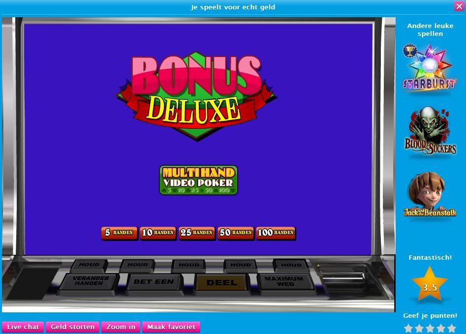 Bonus poker Deluxe multihand