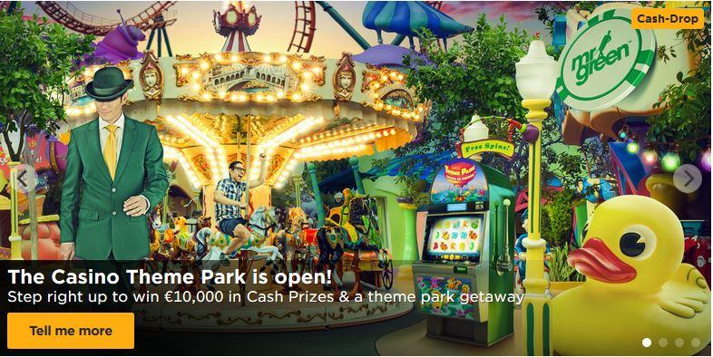 Mr Green Theme Park bonus