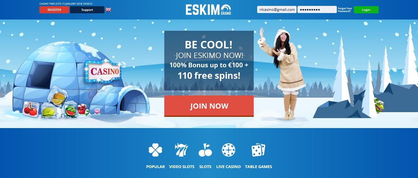 Eskimocasino site