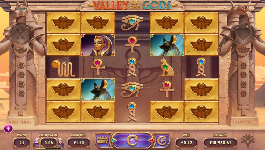 Valley of the Gods slot Betsson