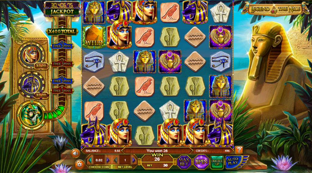legend of the nile real slot omnislots