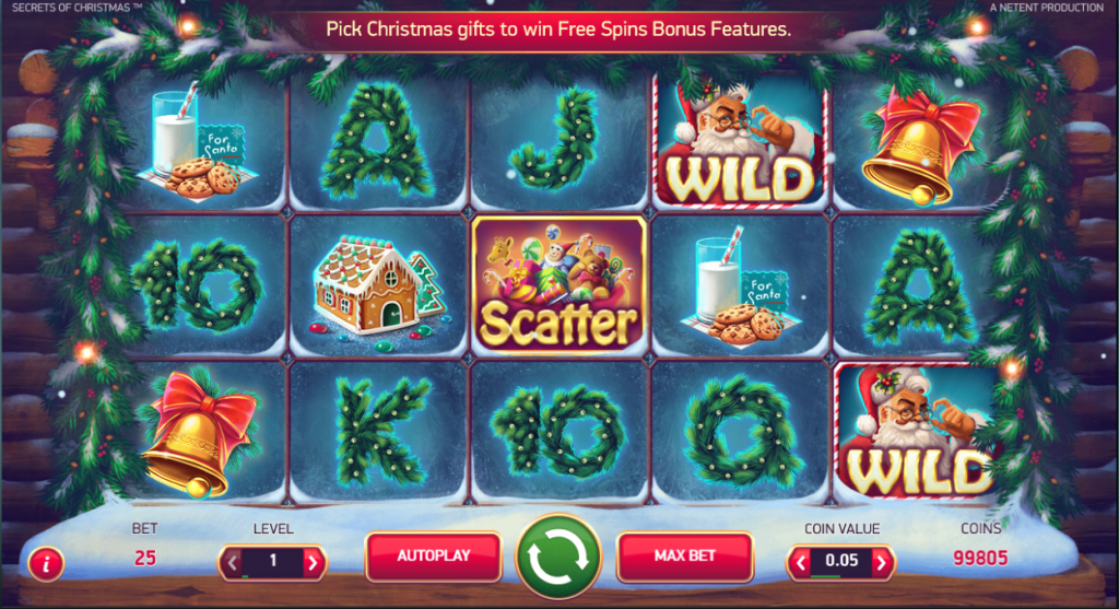 slot secrets of christmas omnislots