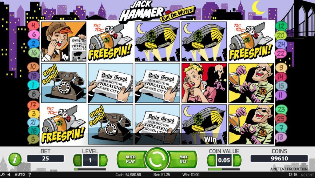 Jack Hammer slot Betsson