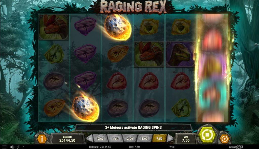 slot raging rex meteor play'n go