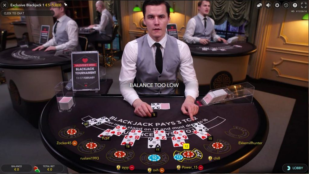 Live Exclusieve Blackjack Betsson