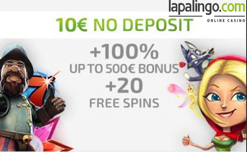 Welkomstbonus Lapalingo Casino