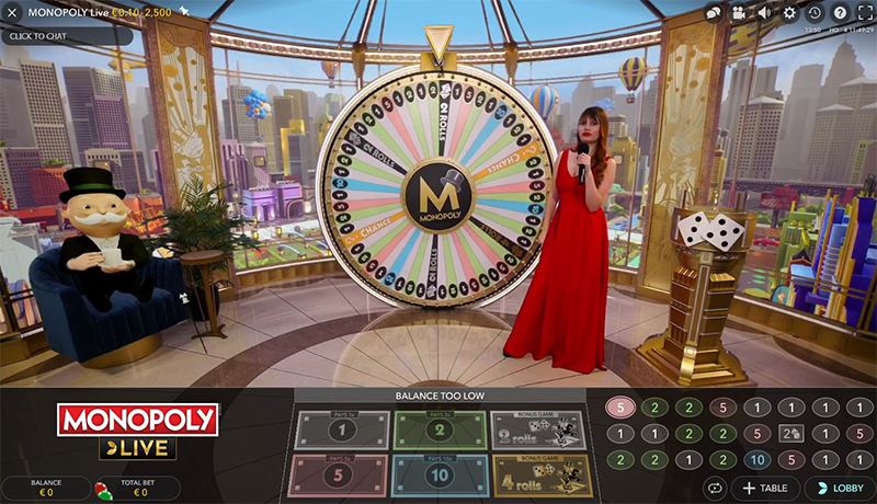 Live Dream Catcher Monopoly NetBet